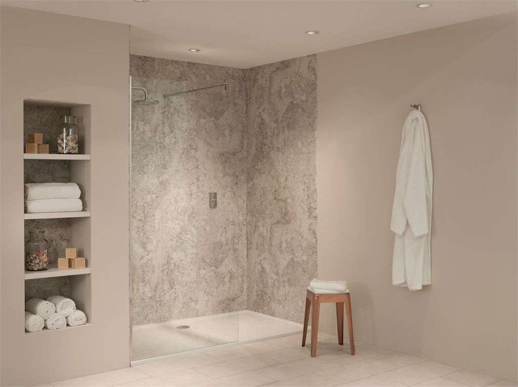 Nuance Alcove Kit E for medium three wall shower recess